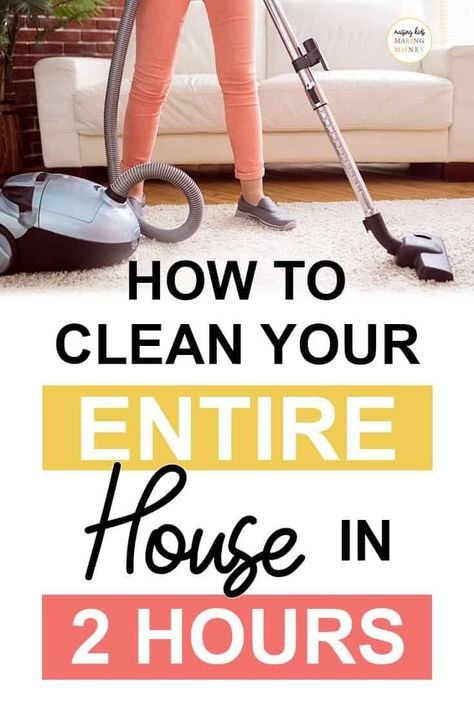 cleaning motivation How to Clean Your Entire House in 2 Hours Speed Cleaning, Household Cleaning Tips, Deep Cleaning Tips, Cleaning Hacks, Cleaning Products, Clean My House, Up House, Konmari, House Cleaning Checklist