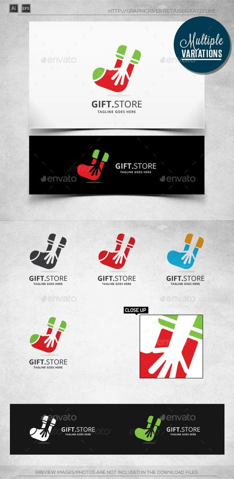 Gift Store - Logo Template