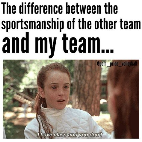 Teams who only play dirty Volleyball Jokes, Volleyball Problems, Softball Memes, Basketball Memes, Soccer Quotes, Softball Players, Sports Memes, Sport Quotes, Volleyball Cheers