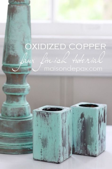 Create your own gorgeous patina to imitate oxidized copper with this tutorial