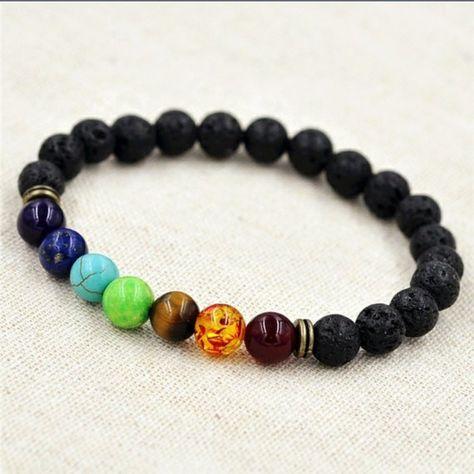 Creine Men Women Stone Beads Stretch Strand Bracelets Healing Therapy Bracelets Strand