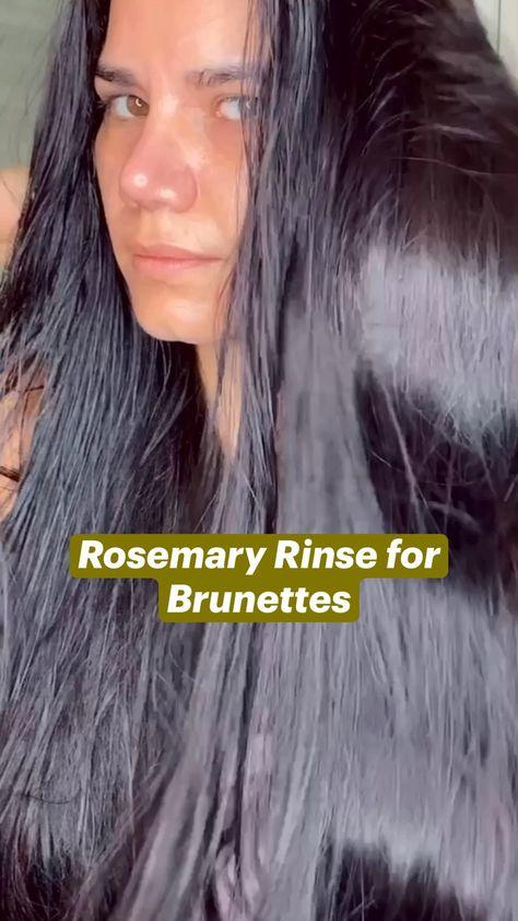 Rosemary Rinse for Brunettes