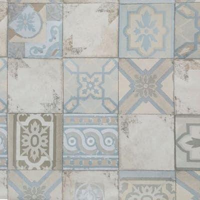 Carta Da Parati Mosaico Azzurro 10 M Carta Piastrelle E