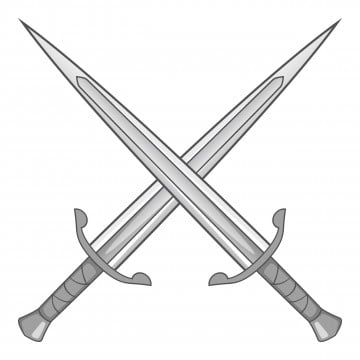 Two Crossed Swords Icon Gray Monochrome Two Crossed Swords Png And Vector With Transparent Background For Free Download Logo Design Art Monochrome Sword