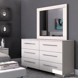 Order Online Brendan 6 Drawer Double Dresser With Mirror By Wade Logan Dresser With Mirror Luxury Bedroom Furniture Living Room Decor Gray