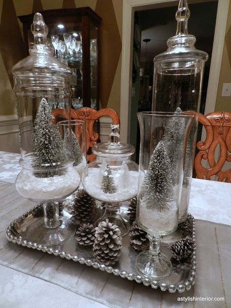 List Of Pinterest Dollar Tree Christmas Centerpieces Apothecary Jars