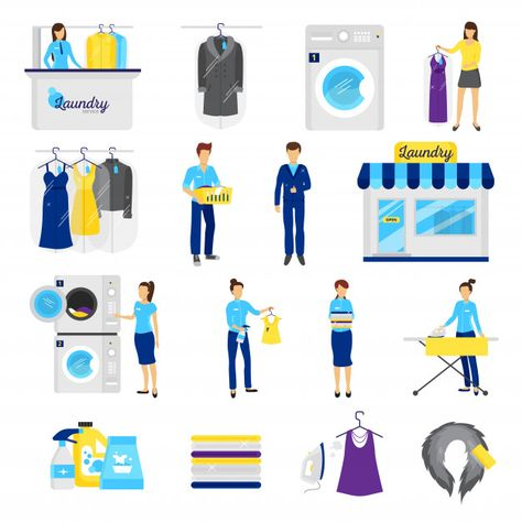 Download Laundry Service Set For Free Laundry Service Laundry