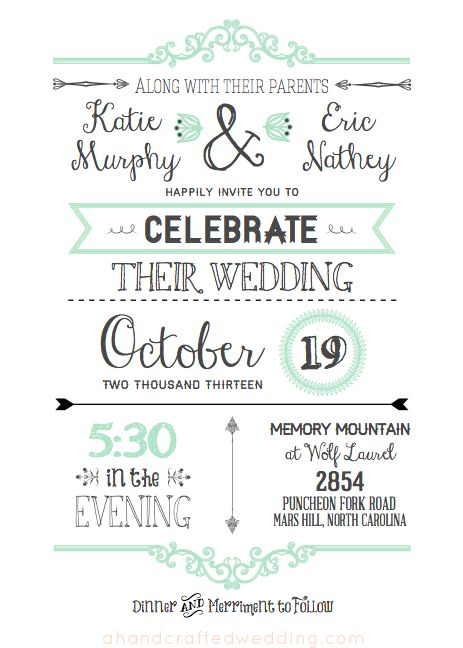 FREE Printable Wedding Invitation Template Free wedding - dinner invitations templates