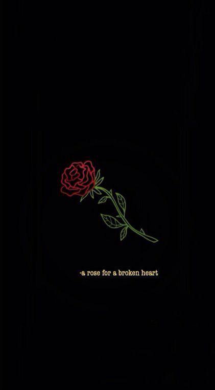 Wallpaper Iphone Dark Broken Heart Rose