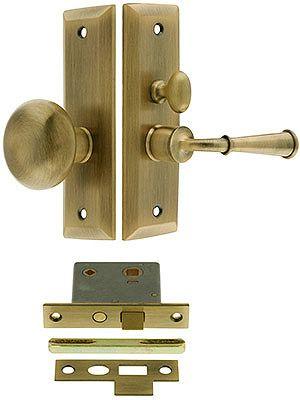 Swarthmore Screen Door Mortise Lock Set With 1 1 2 Backset Screen Door Wood Screen Door Mortise Lock