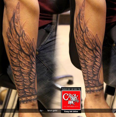 freehand wings tattoo on forearms done at crazy ink tattoo studio raipur.... #freehandtattoo #wingstattoo #3dtattoo #forearmstattoo #ink #crazyink  #tattooidea #creativity #raipurartist