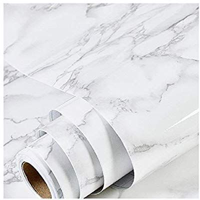 Amazon Com Marble Paper 17 17 X 78 7 Granite Gray White Roll