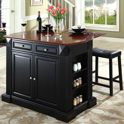 Three Posts Haslingden Kitchen Island In 2021 Kitchen Dining Furniture Traditional Kitchen Island Stools For Kitchen Island