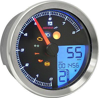 Ebay Sponsored Koso North America Koso Tnt B Multi Function Gauge Silver Ba051300 2211 0173 Yamaha Bolt Yamaha Tachometer