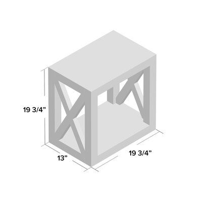 Joss Main Wrightstown Solid Wood Floor Shelf End Table In 2021 Solid Wood Flooring Solid Wood Shelves Wood End Tables