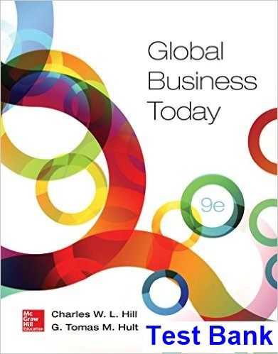 Global Business Today 9th Edition Hill Test Bank Test Bank