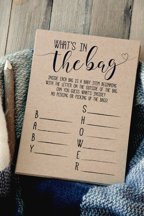 What's In The Bag Baby Shower Game . What's In The Bag? Baby Shower Game #baby #Baby shower ideas #Bag #game #shower #Whats