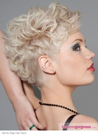 Glam Curly Mohawk Hair Style... I think I may try this someday!
