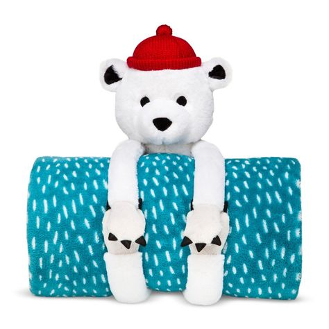 Pillowfort Throw and Bear Buddy Pillow