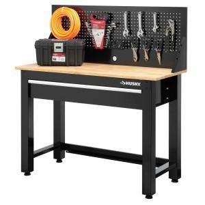 Sensational Husky 4 Ft Solid Wood Top Workbench With Storage In 2019 Uwap Interior Chair Design Uwaporg