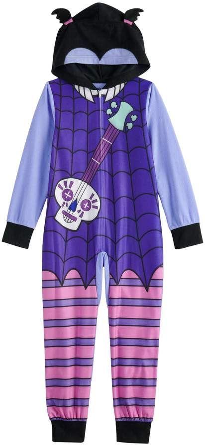 Children Girls Disney Vampirina Costume One Piece Pajama Union Suit