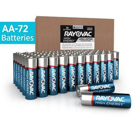 Rayovac High Energy Aa Batteries 72 Pack Double A Batteries Walmart Com Batteries Alkaline Battery High Energy