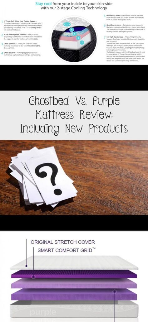 Ghostbed Vs Purple Mattress Review Including New Products In