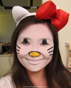 cartoon character face painting google search ansiktsmlning pinterest hello kitty - Halloween Hello Kitty Costume