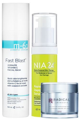 M 61 Fast Blast 2 Minute Vitamin C Facial Mask 50 Available At Bluemercury Nia24 Rapid Depigmentation Serum Skin Care Skin Care Techniques Exfoliating Pads