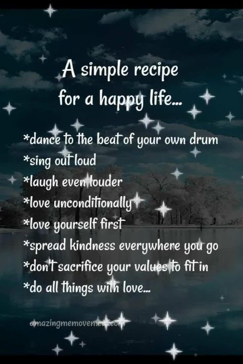 A simple recipe for a happy life quote to help you stay positive even when you're having a bad day. uplifting quotes|how to stay positive|how to keep a positive attitude|change your thoughts|change your life|how to be happy|motivational mindset|motivational quotes|happy quotes|best quotes to live by|quotes for women