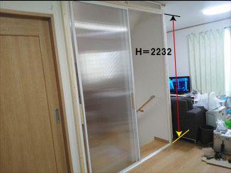 こちらドア引き戸の修理再生工房です 機械式オートロックドアの修理 室内ドア内開き 外開き変更工事 開きドア 引き戸に変更 2階リビング吹き抜け対策断熱引き戸パネル工事など 東京 横浜 室内ドア 2階リビング 引き戸