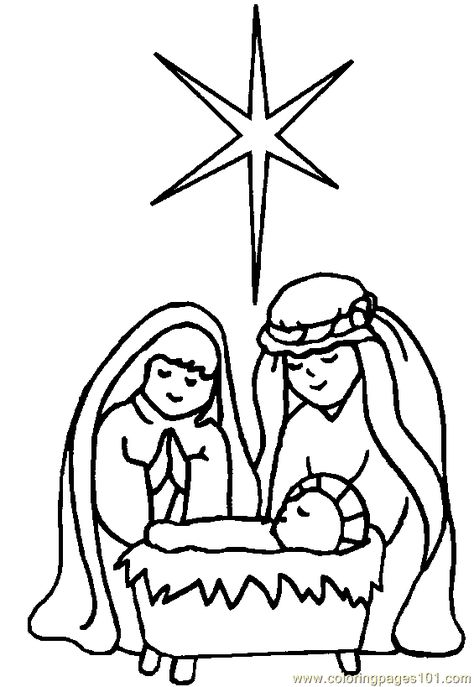 religious christmas coloring pages # 1