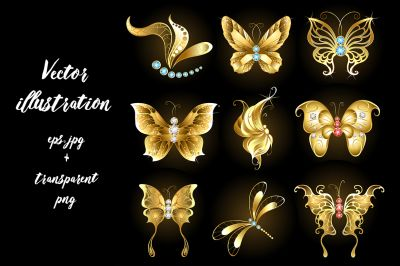 Pin On Golden Butterfly