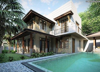 3d Models Houses Villas House Colombo Sri Lanka By Thilina Liyanage Sketchuptexture Model Homes House House Styles