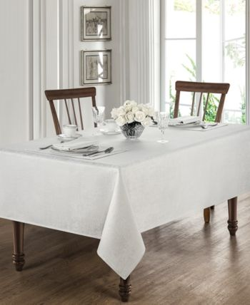 Waterford Moonscape White 70 X 126 Tablecloth White Table