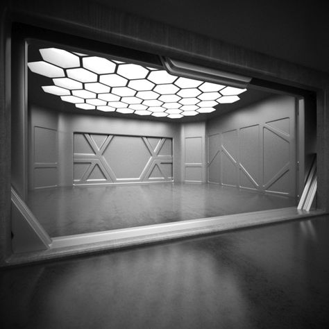 Sci Fi Interior Model on Behance