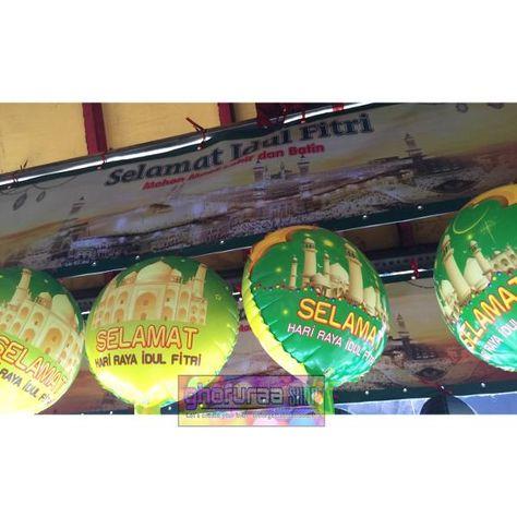jual balon foil selamat hari raya idul fitri aksesoris