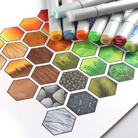 Copic Hex Art Class Best Picture For Architecture Drawing elevation For Your Taste You are looking f Interior Architecture Drawing, Interior Design Sketches, Copic Marker Drawings, Drawing With Markers, Texture Drawing, Copic Art, Copic Sketch, Art Drawings Sketches, Art Sketchbook
