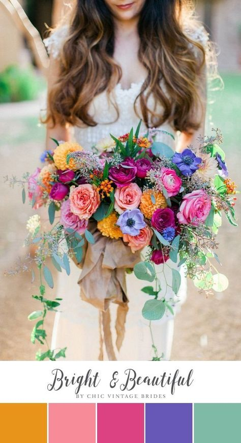 Bright  Beautiful Summer Wedding Colour Palette