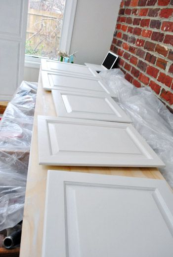 Young House Love blog kitchen cabinet paint color and products used ---