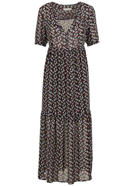 Robe Longue Imprimee Noir By See U Soon Idees Vestimentaires Robe Longue Mode