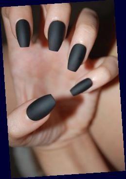 Black Nails Matte Or Glossy Choose Shape Set Of 20 False Etsy Black Nails Matte In 2020 Black Coffin Nails Matte Black Nails Black Nails