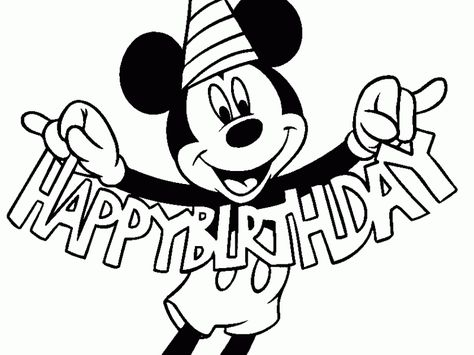 mickey mouse clubhouse birthday coloring pages