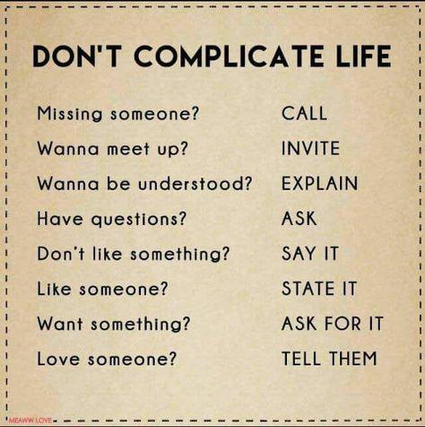 Keep it simple guys..