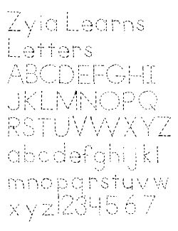 free tracing font