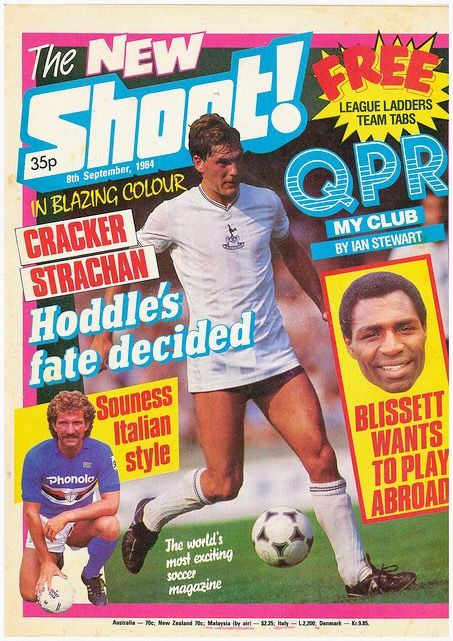 Shoot Magazine In Sept 1984 Featuring Glenn Hoodle Of Tottenham On The Cover