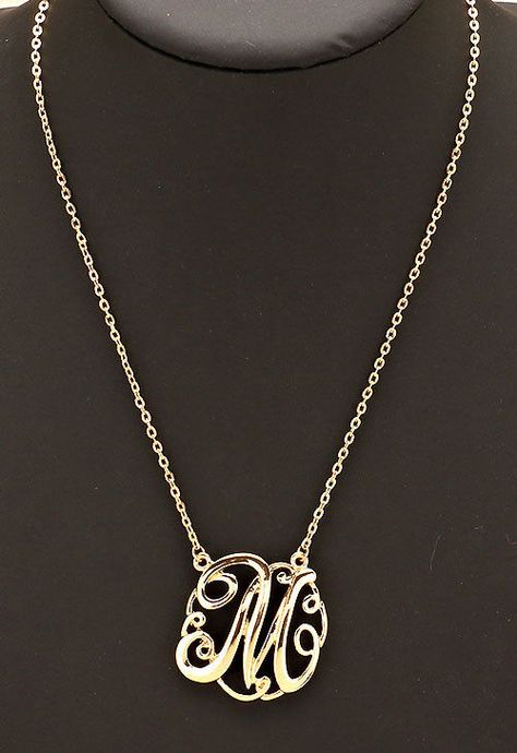 6a5739a02f9d4 List of Pinterest initiald necklace gold circles letters pictures ...