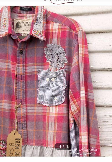 Hipster Fashion Ombre Boyfriend Shirt Arizona Jeans Denim Shirt Mens Size Small Upcycled Denim Ombre Shirt Womens Oversized Shirt