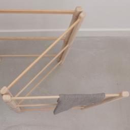 Natural Rustic Handmade Wooden Drying Rack Aerende In 2020 Wooden Wooden Drying Rack Handmade Wooden