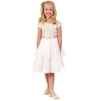 Jona Michelle Girls/' Special Occasion Embellished Dresses Various Colors